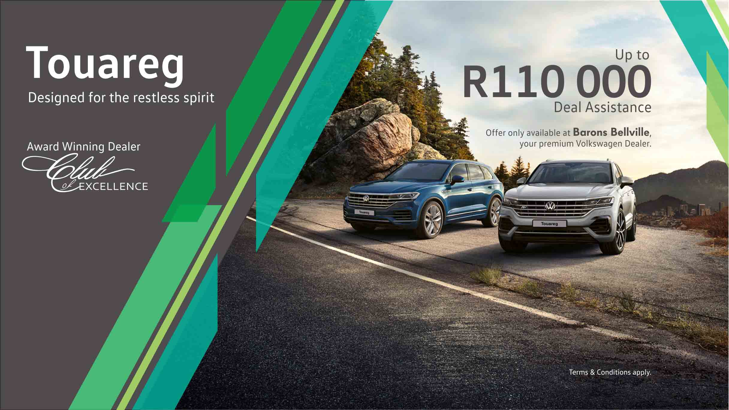 VW Touareg offer at Barons Bellville