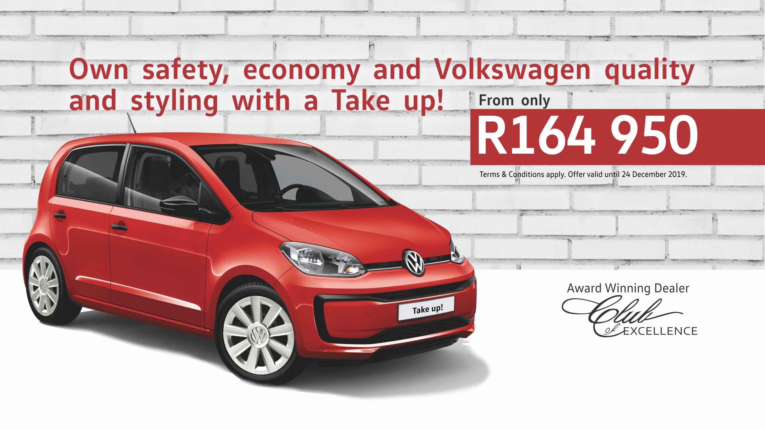 VW UP offer at Barons Bellville