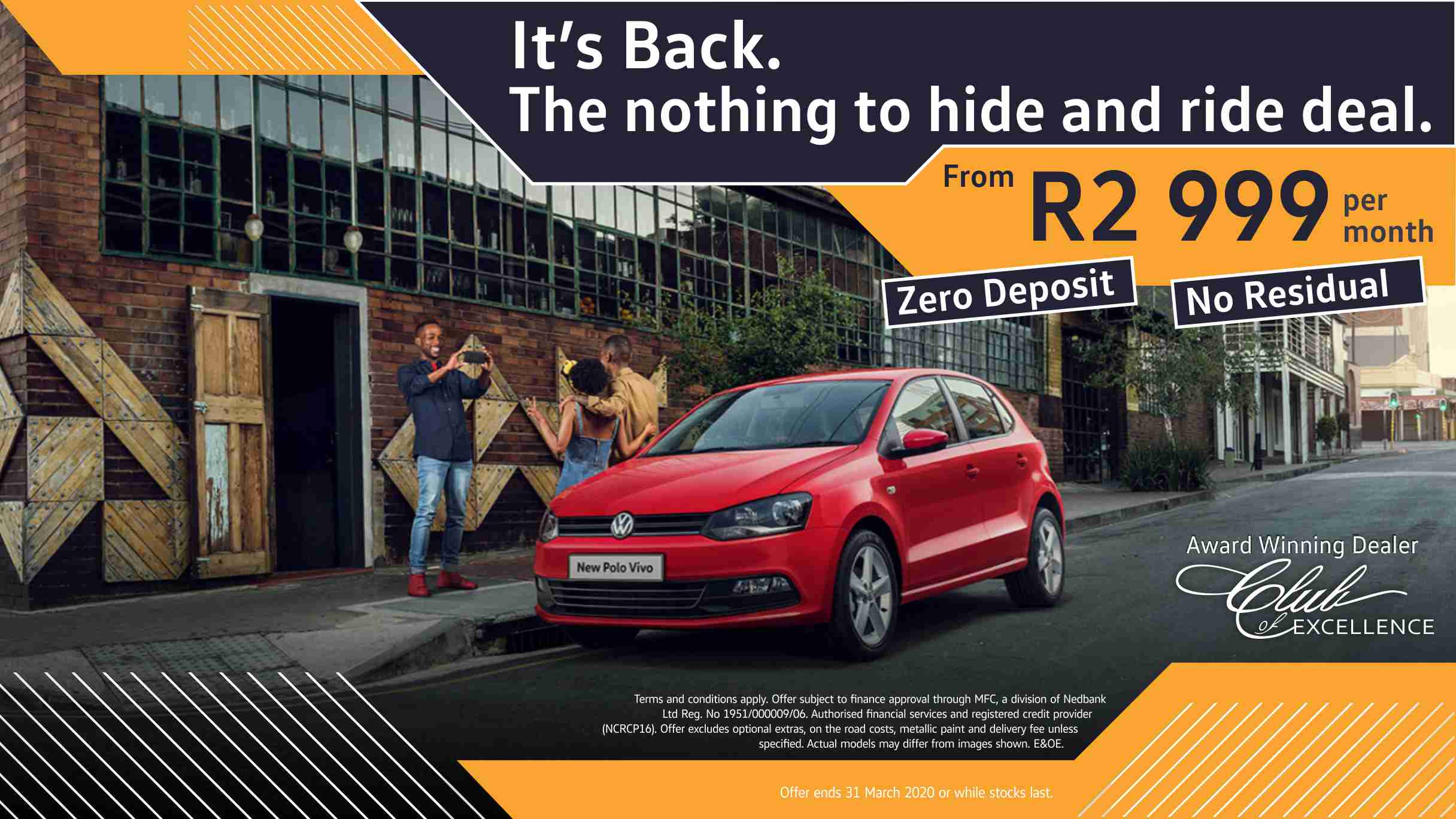 Polo Vivo nothing to hide and ride deal