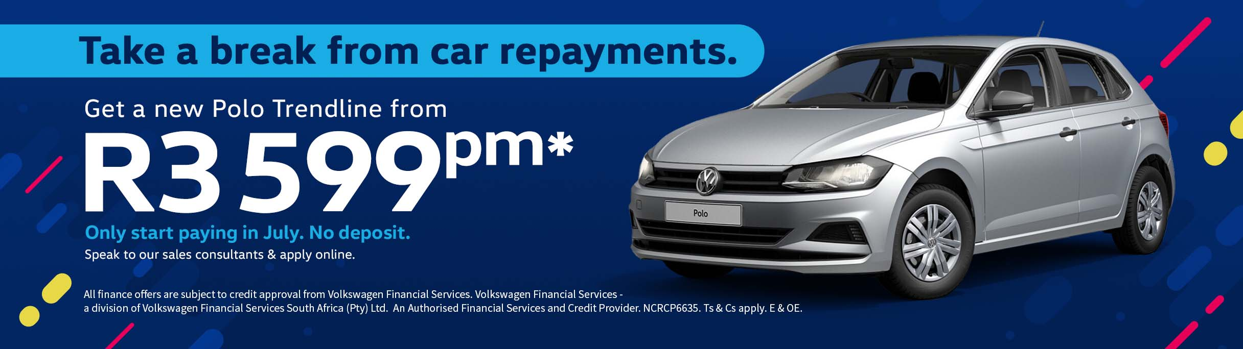 Barons Bellville VW Polo Trendline repayment break offer